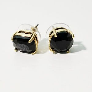 Kate Spade Mismatched Faceted Stud Earrings Black